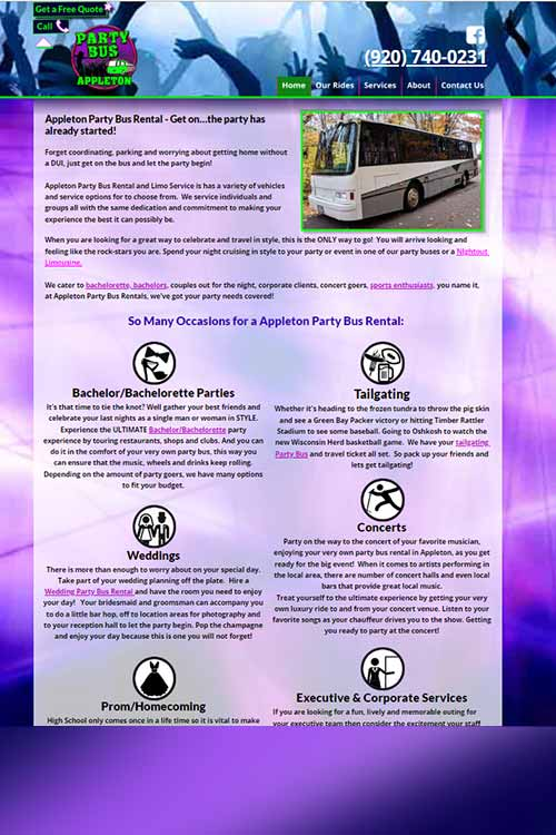 Appleton Party Bus
